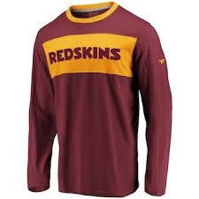 Logo Line Primary Nfl Sleeve Burgundy T-shirt Long Washington Pro Men's Redskins