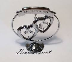 image is loading 25th silver wedding anniversary gift ideas with swarovski