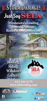 Storm Damage Just Say SELA Sela Roofing And Remodeling Saint Classy Remodeling Advertising