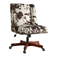 fun office chairs. The Draper Armless Chair Is Unlike Any Average Home Office Chair. This Stylish Features A Plush Frame Upholstered In Fun Dark Brown Cow Print Chairs