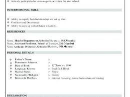 Is Declaration Required In Resume 13 College Resume Templates Pdf