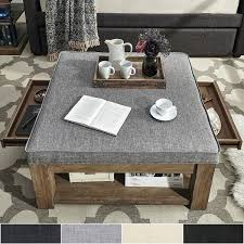 storage ottoman coffee table canada coaster with trays target
