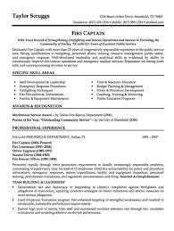 Sample Resume Fire Captain - http://resumesdesign.com/sample .