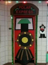 Christmas Door Display and Bulletin Board Idea