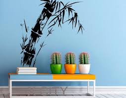 Small Picture Aliexpresscom Buy Bamboo Stalk Wall Decal Zen Plant Vinyl