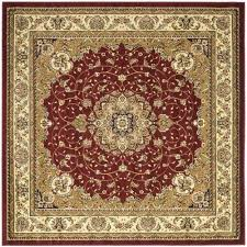safavieh lyndhurst red area rug 6 x 6 square