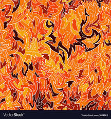 Flame Pattern Impressive Seamless Fur Or Flame Pattern Background Vector Image