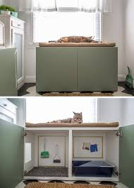 furniture to hide litter box. 10 Ideas For Hiding Your Cats Litter Box // Turn A Cabinet Into Contemporary Place Cat To Do Its Business Furniture Hide