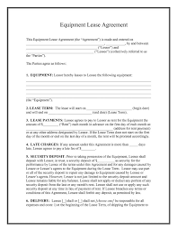 Lease Agreement Form Pdf Simple Free Lease Agreement Form Template Quick 48 Best Of Equipment R