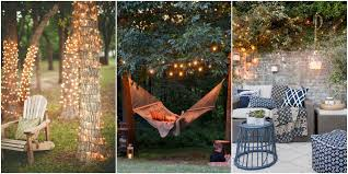 Party lighting ideas outdoor Backyard Party Country Living Magazine 20 Backyard Lighting Ideas How To Hang Outdoor String Lights