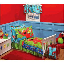 elmo twin sheet set sesame street toddler bedding elmo toddler super bedding set