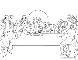 Last Supper Coloring Pages Printable صور