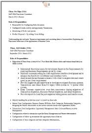 sample sap resume sample sap resume sample sap mm consultant cover letter