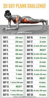 52 Best 30 Day Plank Challenge Images 30 Day Plank