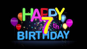 Happy 7th Birthday Title Seamless Looping Animation For Presentation With  Dark Background. Stock Footage Video 15430732 | Shutterstock