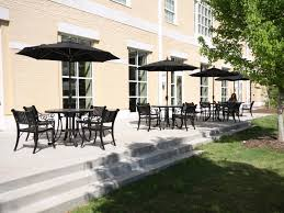 The honors college at the university of south carolina is located in columbia sc the patio furniture for this project provides an inviting space for