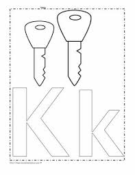 Printable alphabet letters and coloring pages. The Letter K Coloring Page Worksheets