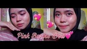 barbie doll makeup tutorial pink daily
