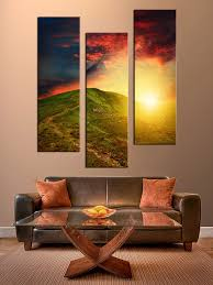 living room multi panel art 3 piece canvas wall art landscape multi panel canvas on large 3 panel wall art with 3 piece canvas photography mountain large pictures sunrise artwork