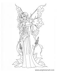 Realistic Fairy Coloring Pages For Adults Color Bros