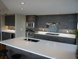 modern cabinet refacing. Textured Innovative Design Series Cabinets, New Island, Quartz Countertops, Linear Glass Blend Tile Backsplash, And Porcelain Floor Modern Cabinet Refacing T