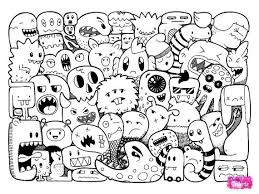 Gambar Doodle Monster 3 Doodle Monster Coloring Pages Zentangle