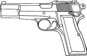 Printable Gun Coloring Pages Guns Page Free Nerf Blaster To Print