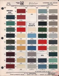 Aston Martin Color Chart Mg Paint Chart Color Reference