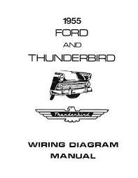 ford 1955 customline, fairlaine & thunderbird wiring diagram 1957 Ford Wiring Diagram at 1955 Ford Thunderbird Wiring Diagram