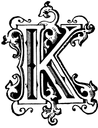 K N Air Filter Size Chart K Ornamental Letter Clipart Etc