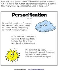 personification classroom poem language and personification poem and other writing bies
