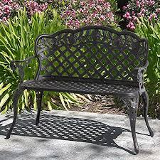 aluminum garden bench. Interesting Aluminum Best Choice Products Patio Garden Bench Cast Aluminum Outdoor Yard  Solid Construction New  Bronze To S