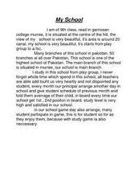 essay about my school an essay about my school