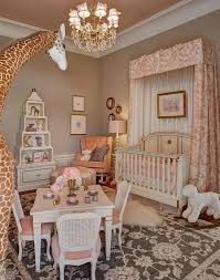 pink and taupe nursery french
