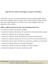 Salon Manager Resume Best Top 28 Hair Salon Manager Resume Samples