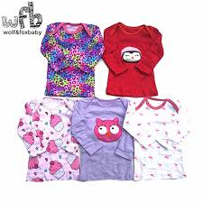 <b>Retail 5pcs</b>/pack <b>0 24months</b> long Sleeved t shirt Baby Infant ...