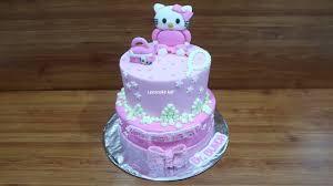 Kue Ulang Tahun Hello Kitty Cake Bertingkat Pake Sumpit 3 Batang