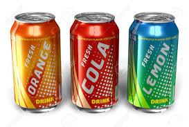 Drinks Can Design Set Of Refreshing Soda Drinks In Metal Cans Design And Text