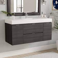 Wade Logan Tenafly 47 Wall Mounted Single Bathroom Vanity Set Reviews Wayfair