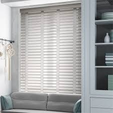 wood blinds. Fine Wood True White U0026 Linen Faux Wood Blind  50mm Slat With Blinds M