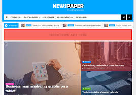 tamplate newspaper news blogger template blogspot templates 2018