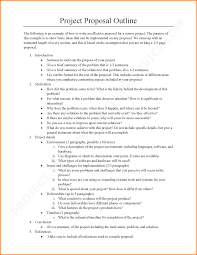 Research Project Proposal Template Paper Doc Outline Sample