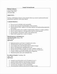 Nursing Student Resume Clinical Experience Experienced