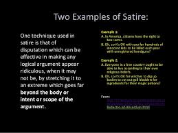 what is a definition essay examples co satire power point