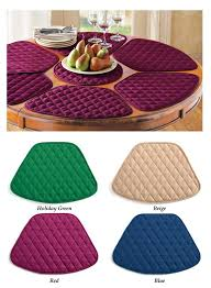 com round table placemats set of 7 burdy home kitchen inside mats ideas 1