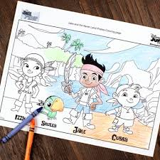 jake and the never land pirates coloring page disney family