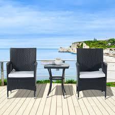 outsunny rattan bistro garden chair
