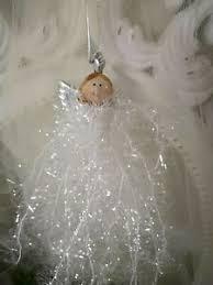 Engel Anhänger Weiss Silber Christbaumschmuck Weihnachten