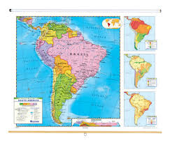 Nystrom Political Relief Map South America