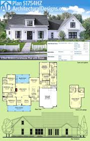 modern farmhouse floor plans. Architectural Designs Modern Farmhouse Plan 51754HZ Gives You Over 2,600 Square Feet Of Living Space Plus Floor Plans Pinterest